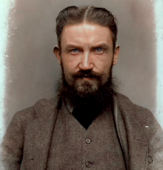 George Bernard Shaw - colorized from a glass negative…the beautiful work of  Mr. Matt Loughrey