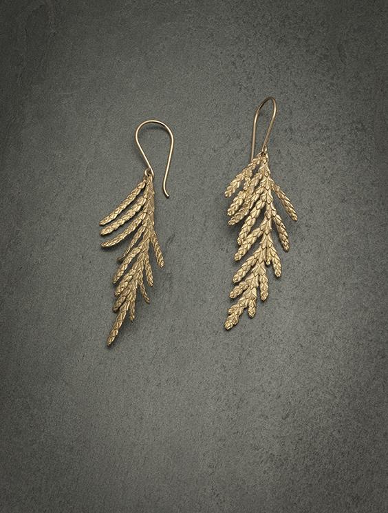 nature Cedar Branch earrings Xlarge bronze.jpg