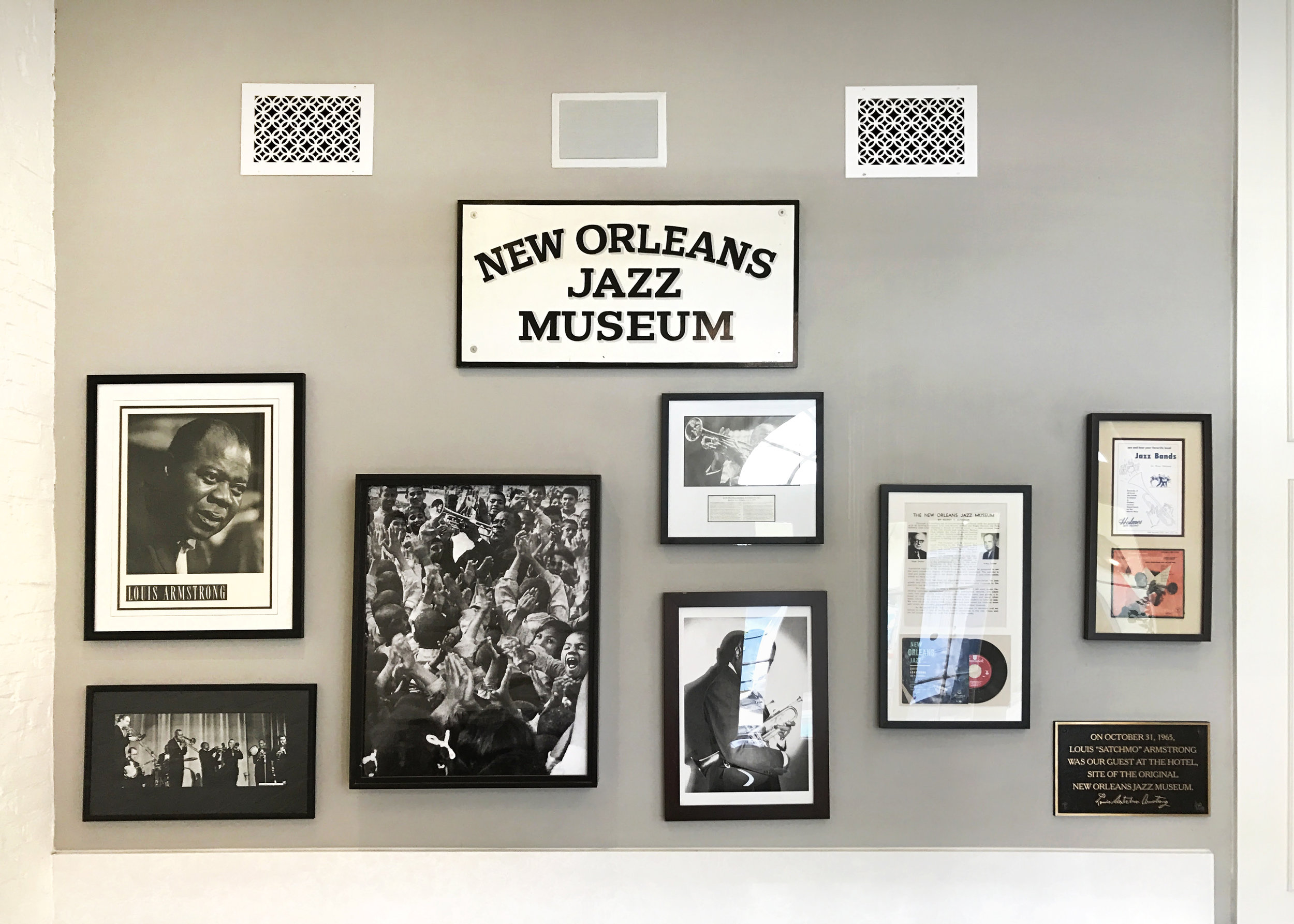 From photos to records to instruments and more,the entire history of jazz hangs on our walls