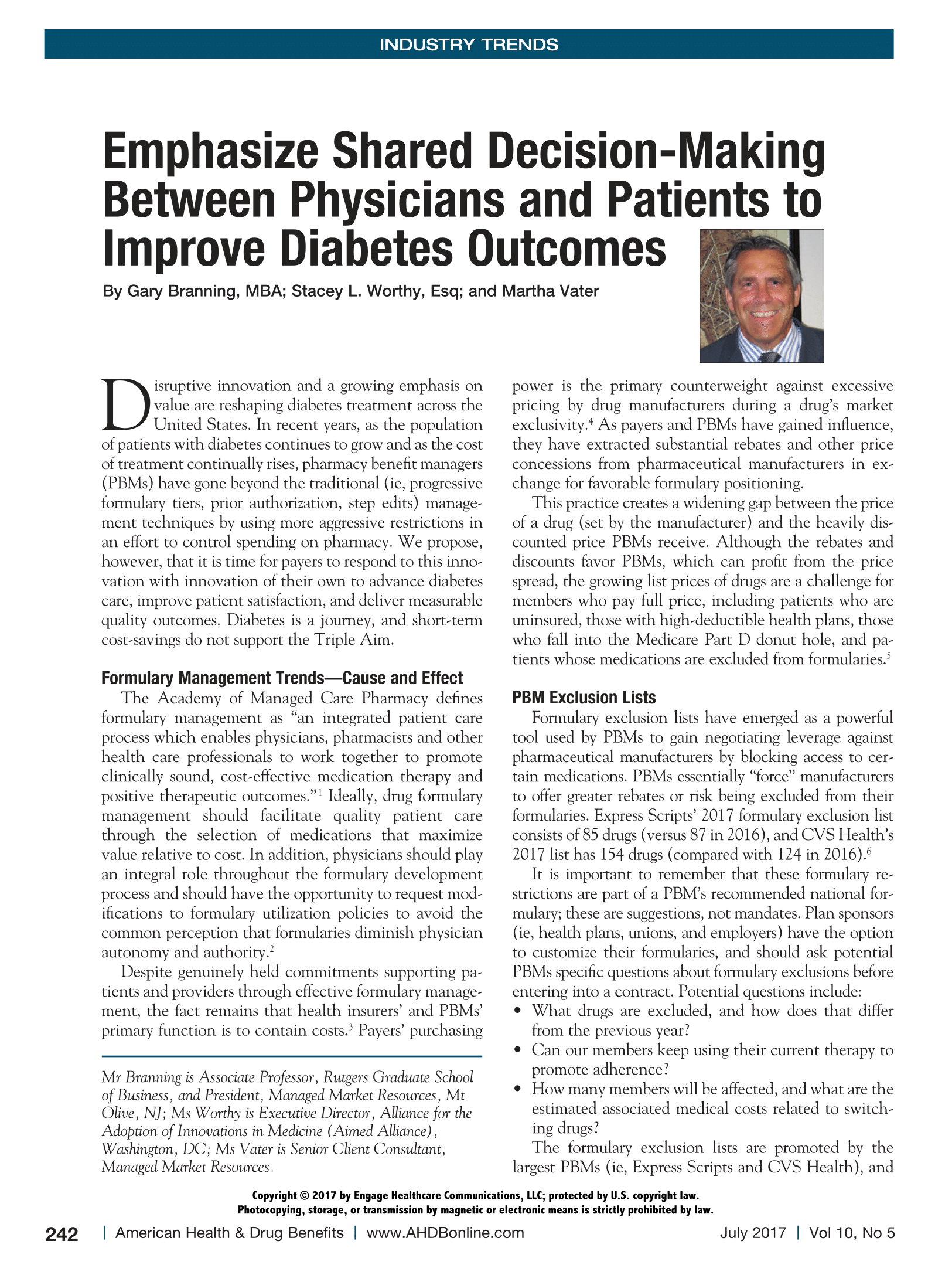 Emphasize Shared Decision-Making Between Physicians and Patients to Improve Diabetes Outcomes