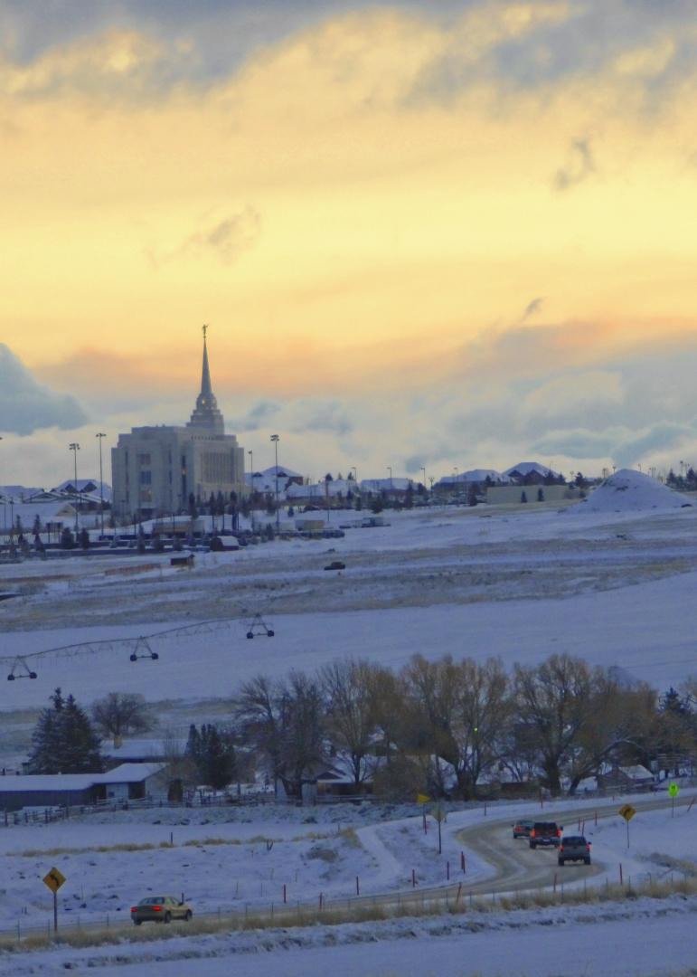 LDS Temple in Rexburg, Idaho