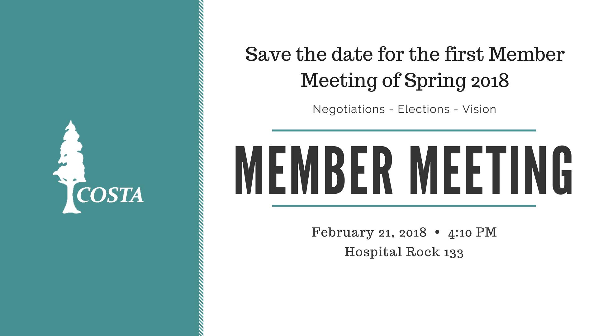 Member Meeting