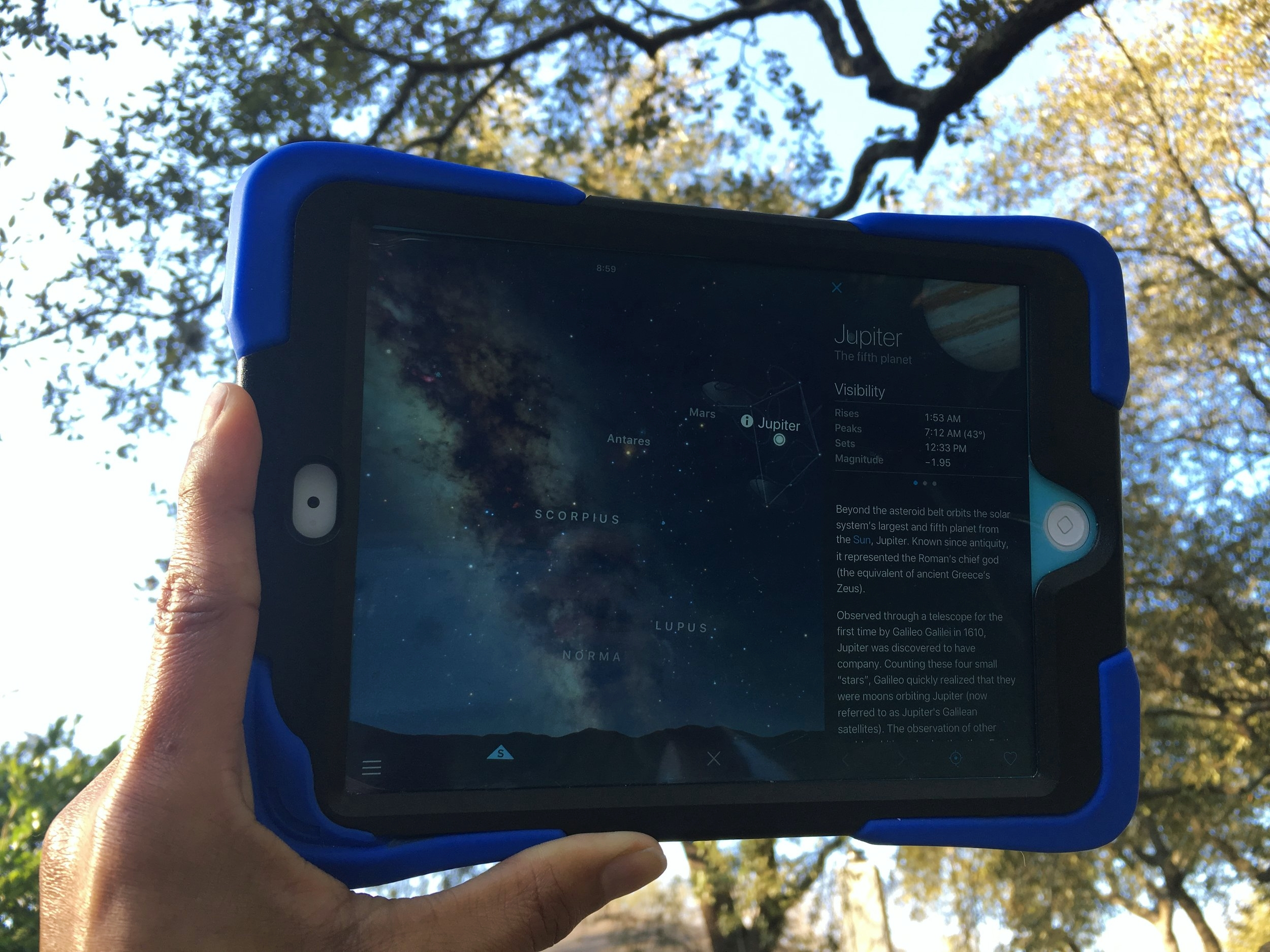 Sky Guide in use on the iPad