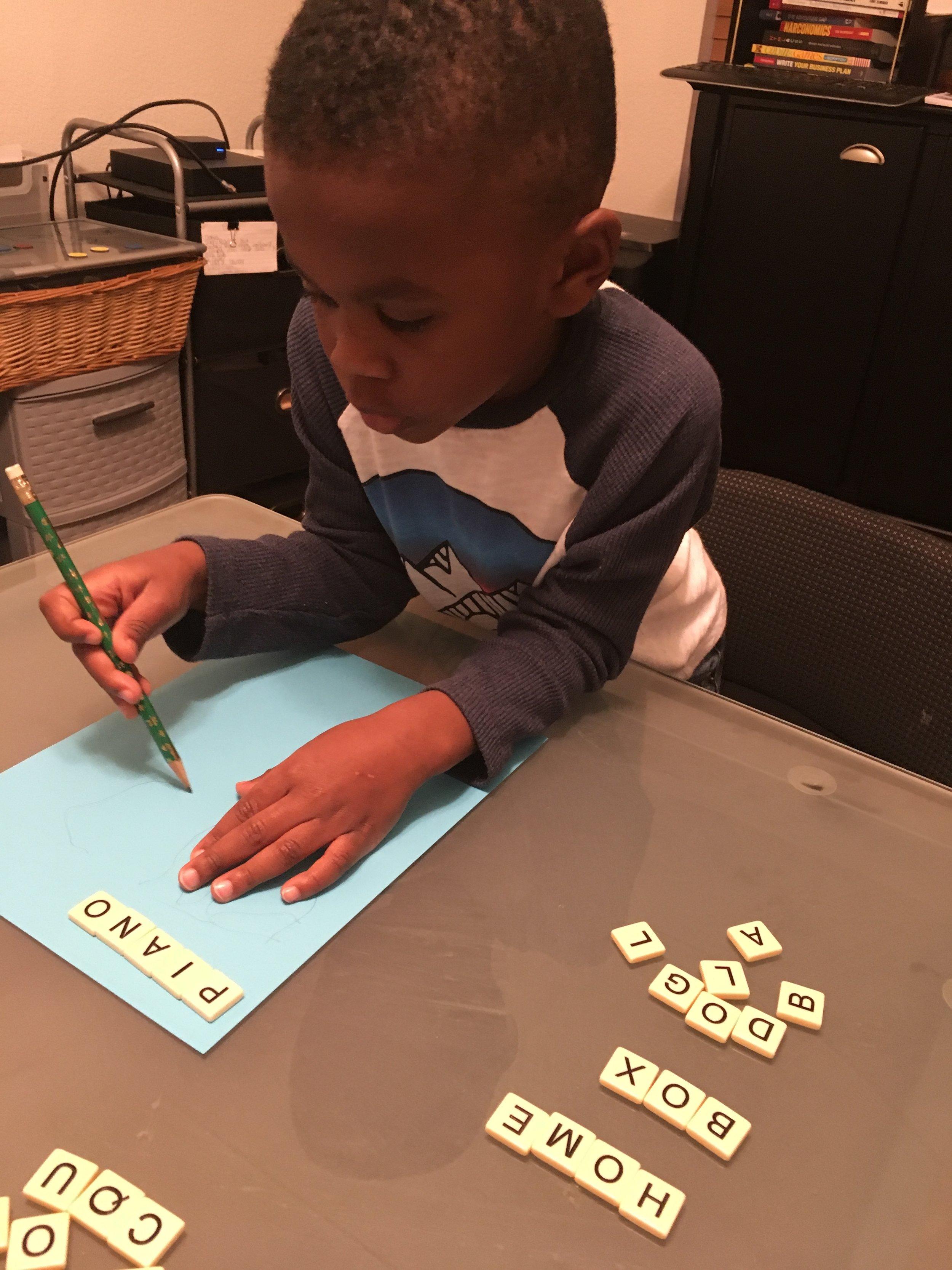 Isaac writing