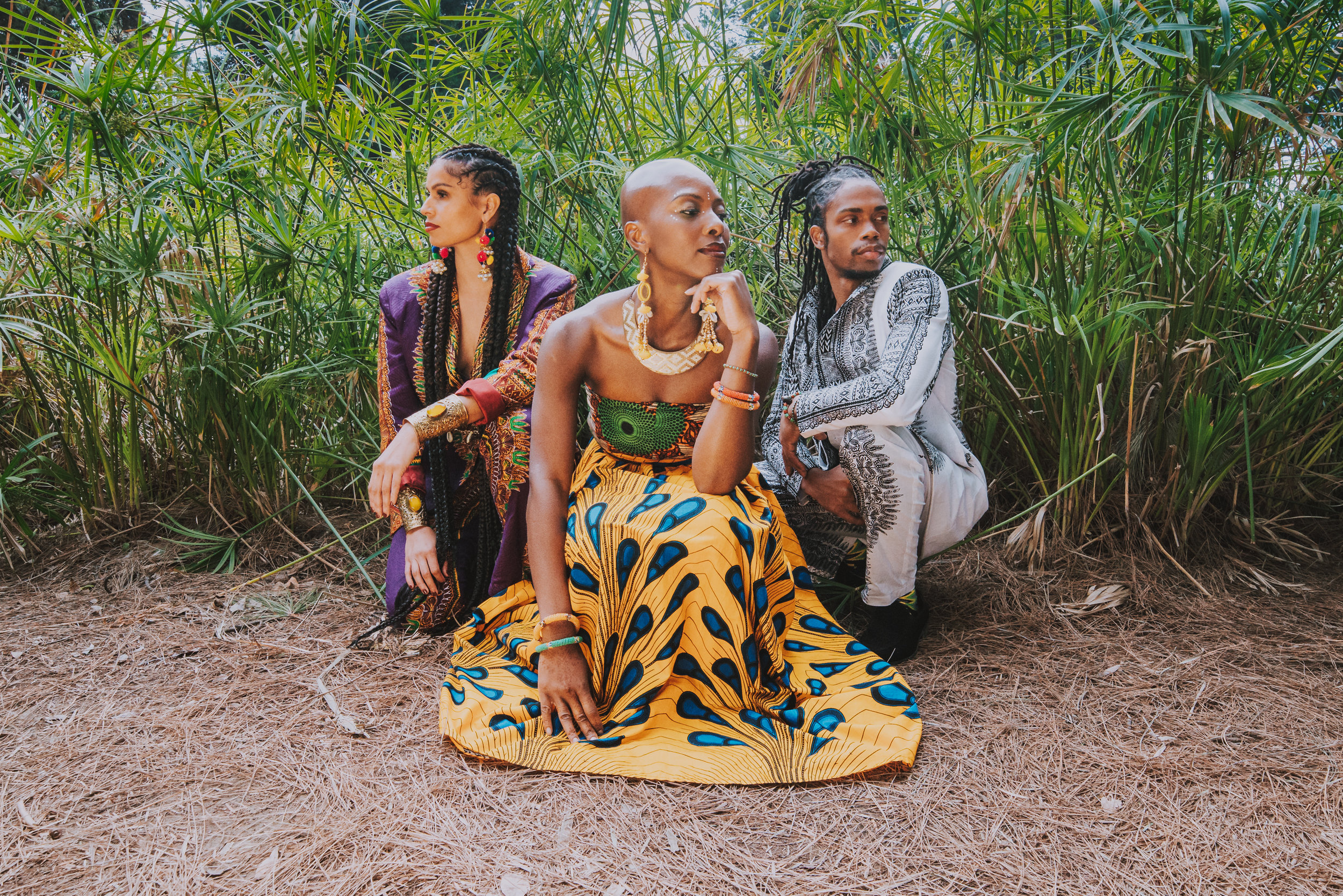 Models: Rachel Hernandez, Onyi, Kahlil Cummings,  Photographer: Farah Sosa  MUA: Nena Soulfly  Face Dot Adornment: Onyi  Location: Los Angeles, CA