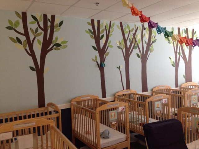 Mural at daycare by June Jewell, Loudoun, VA