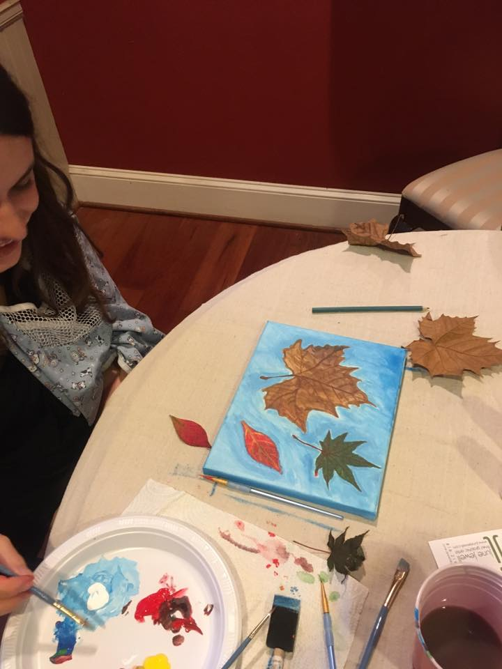 Autumn Leaf Painting Class