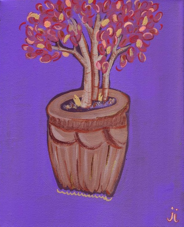 Plant on Purple by June Jewell