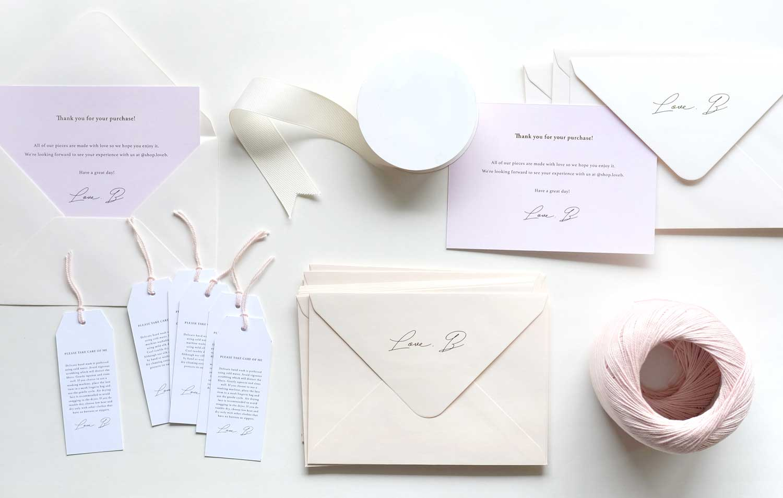 Custom Thank You Card +Business Stationery Set