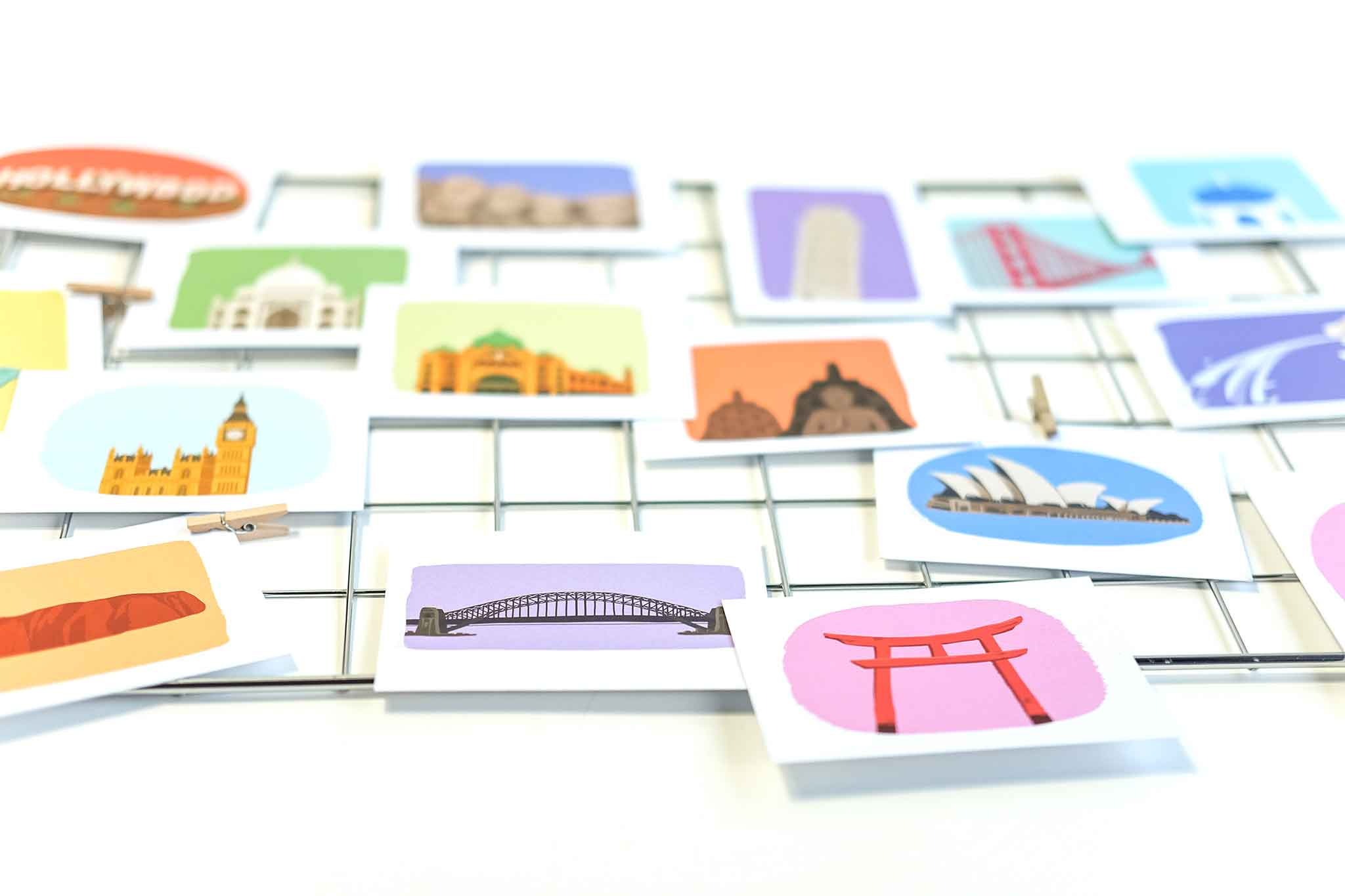 Mini Landmark Cards