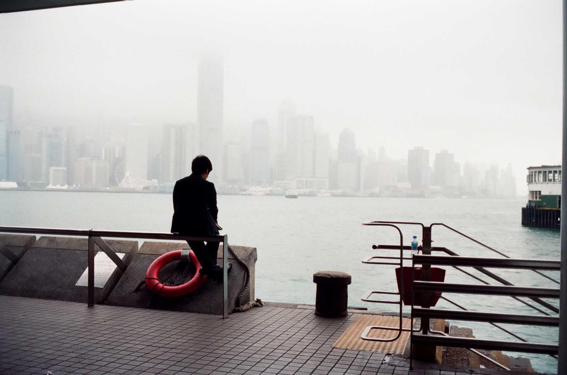 """""""Contemplation"""" Hong Kong Harbor, 2015"""