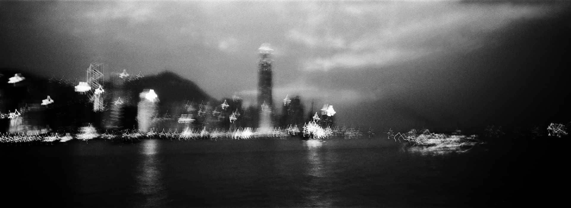 Victoria Harbour at night. Hong Kong 2015.