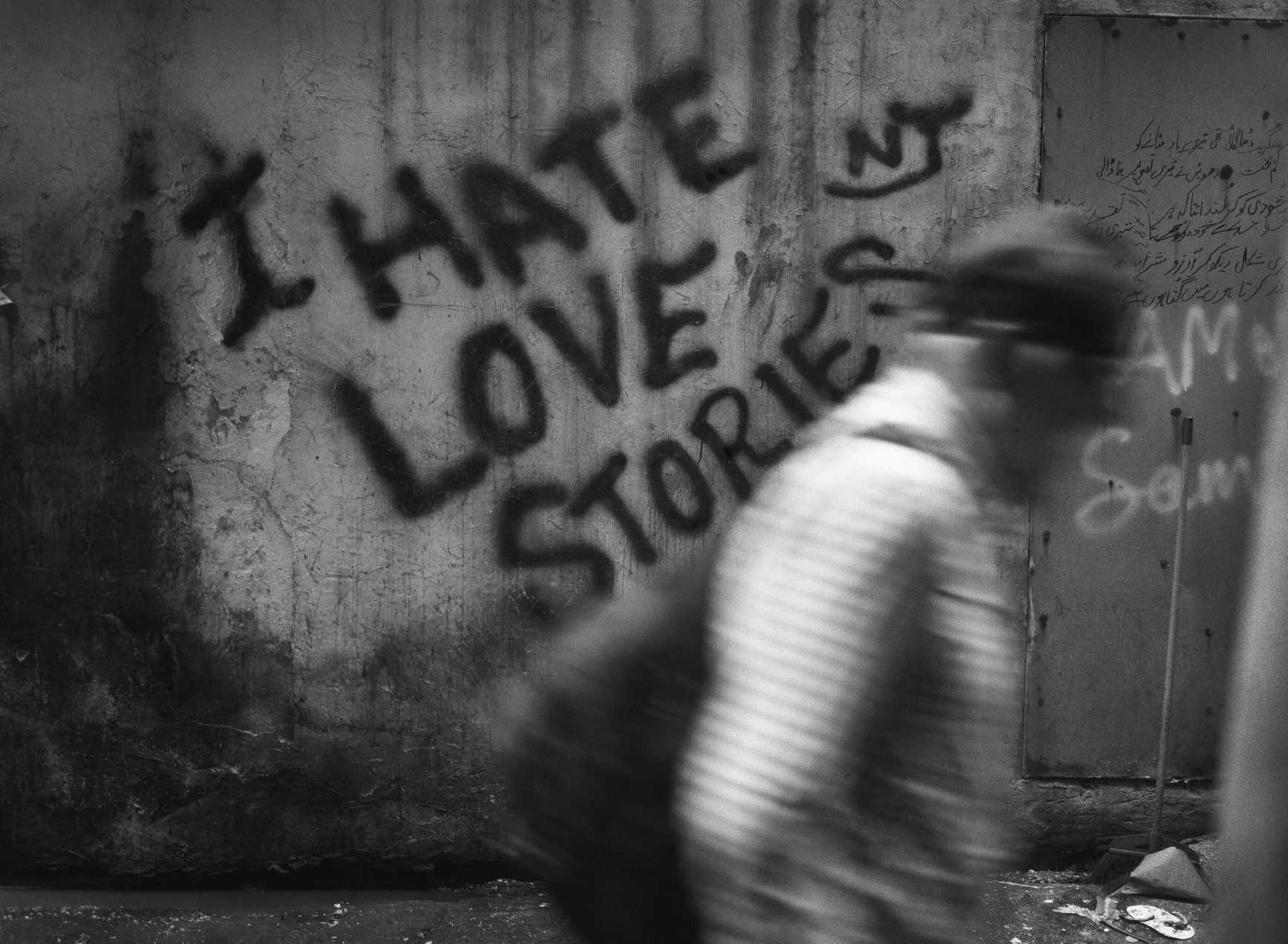 """""""Writing On The Wall"""" Graffiti, alleyway Chungking Mansions. Hong Kong. 2015"""