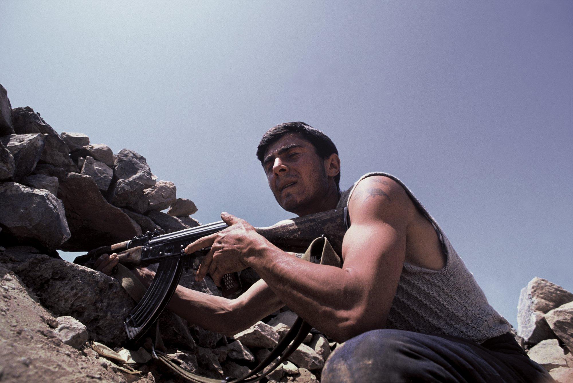 Trench Warfare,Nagorno-Karabakh War. 1992