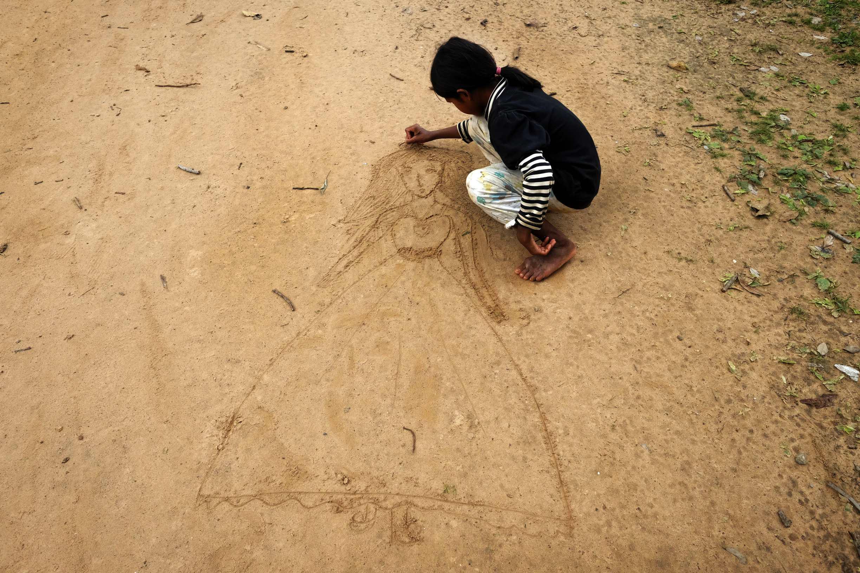 Sand Artist. Siem Reap, Cambodia. 2014