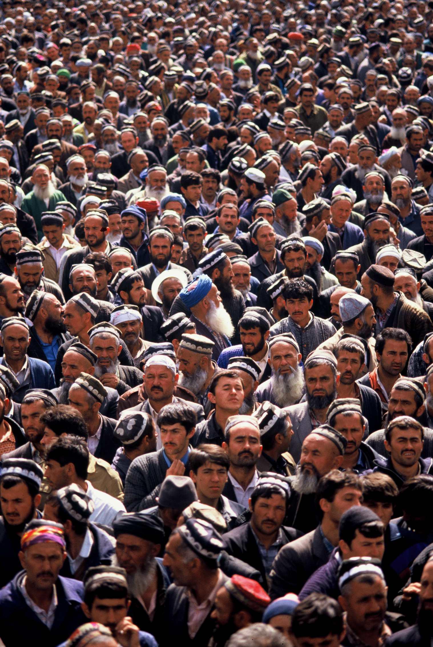 Islamic Renaissance Party Protest. Dushanbe, Tajikistan. 1992