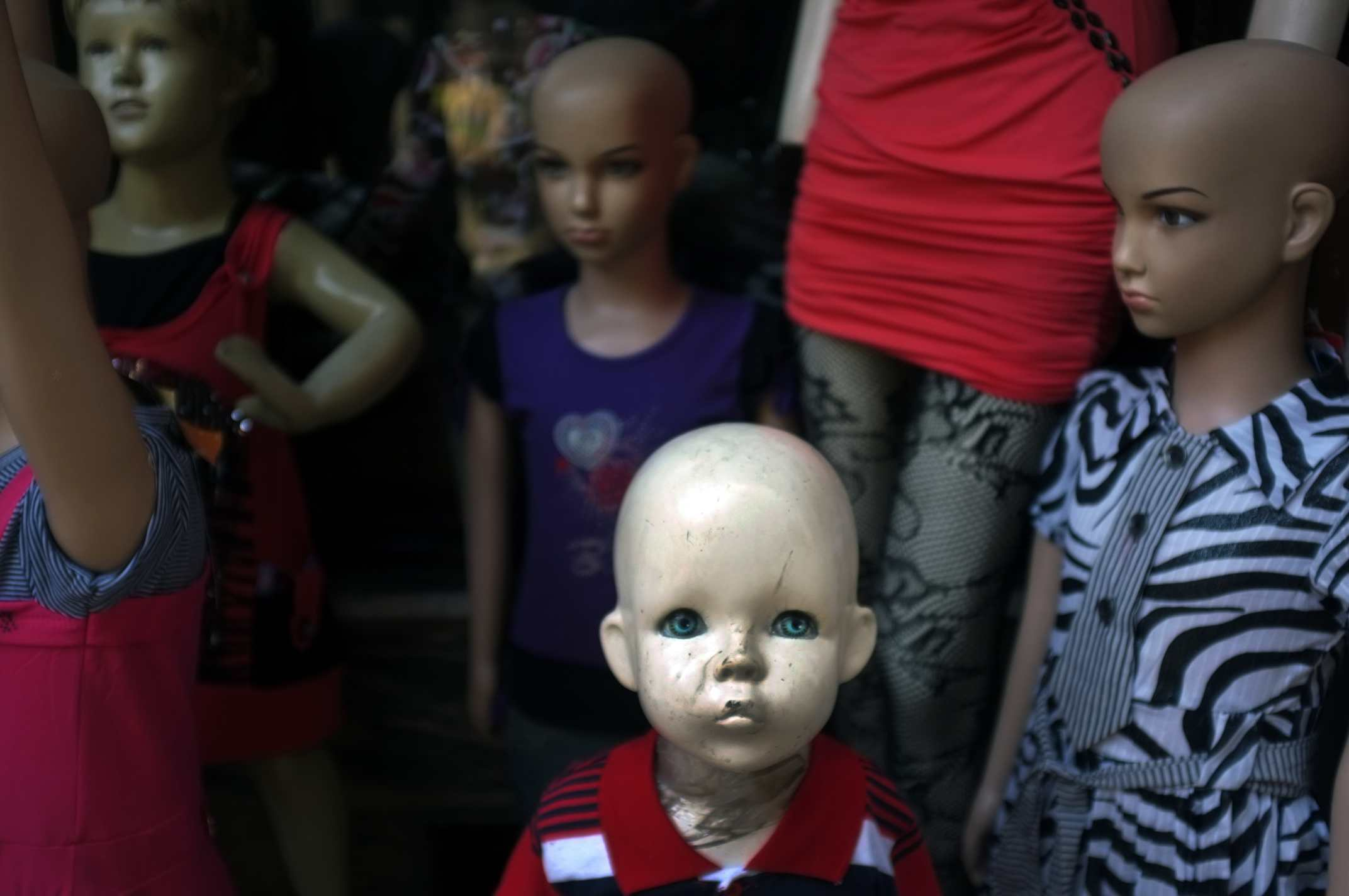 """Blue Eyes"" Mannequins. Kathmandu, Nepal. 2011"