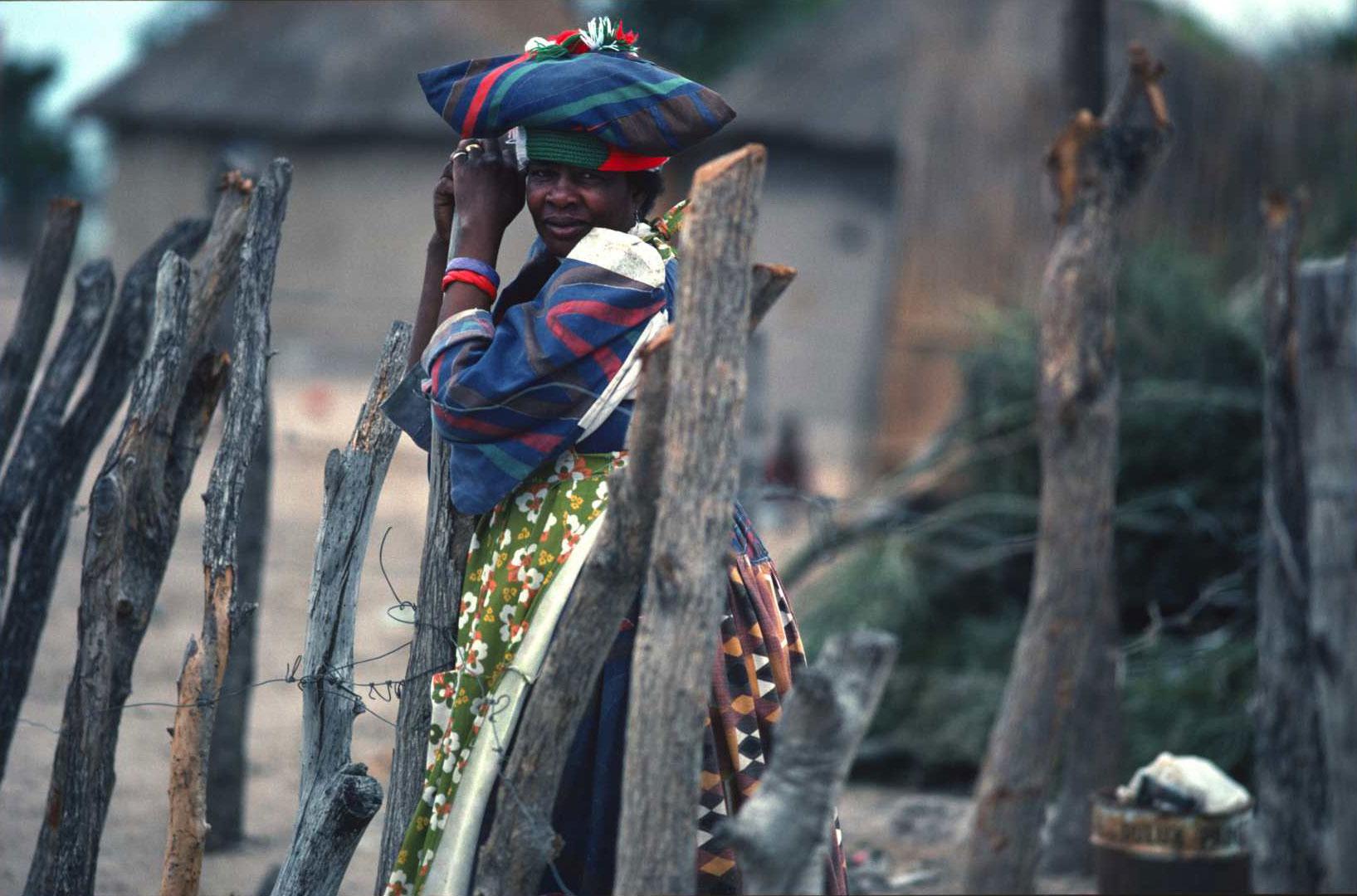 """Do you like my hat""? Botswana, 1989"
