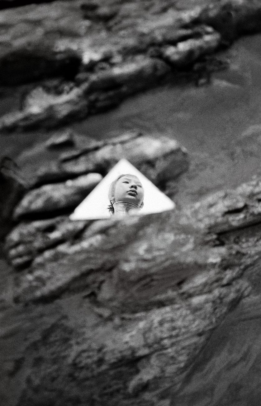 """Reflection"" Padong woman in the village of Nai Soi. Thai-Burma border. 2004"