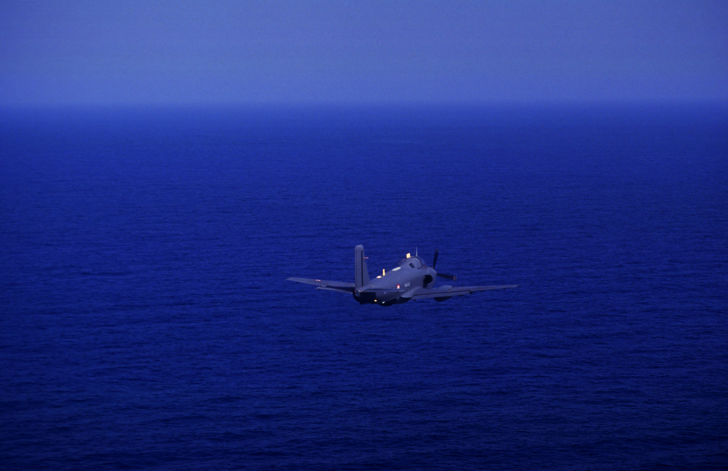 """""""Into The Blue"""" On a reconnaissance sortie with the Australian and Canadian Navy during the First Gulf War. 1991"""