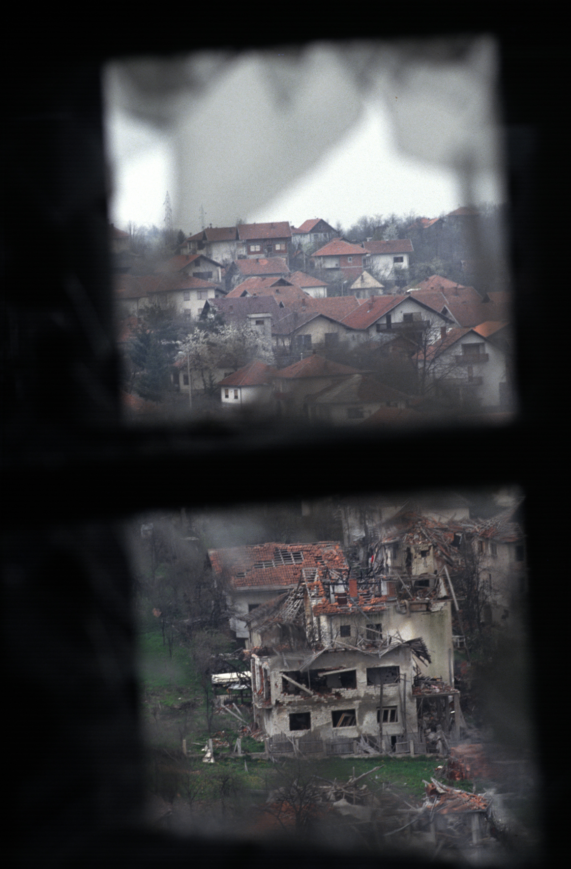 The damage wreaked.Gradacac, Bosnia 1993