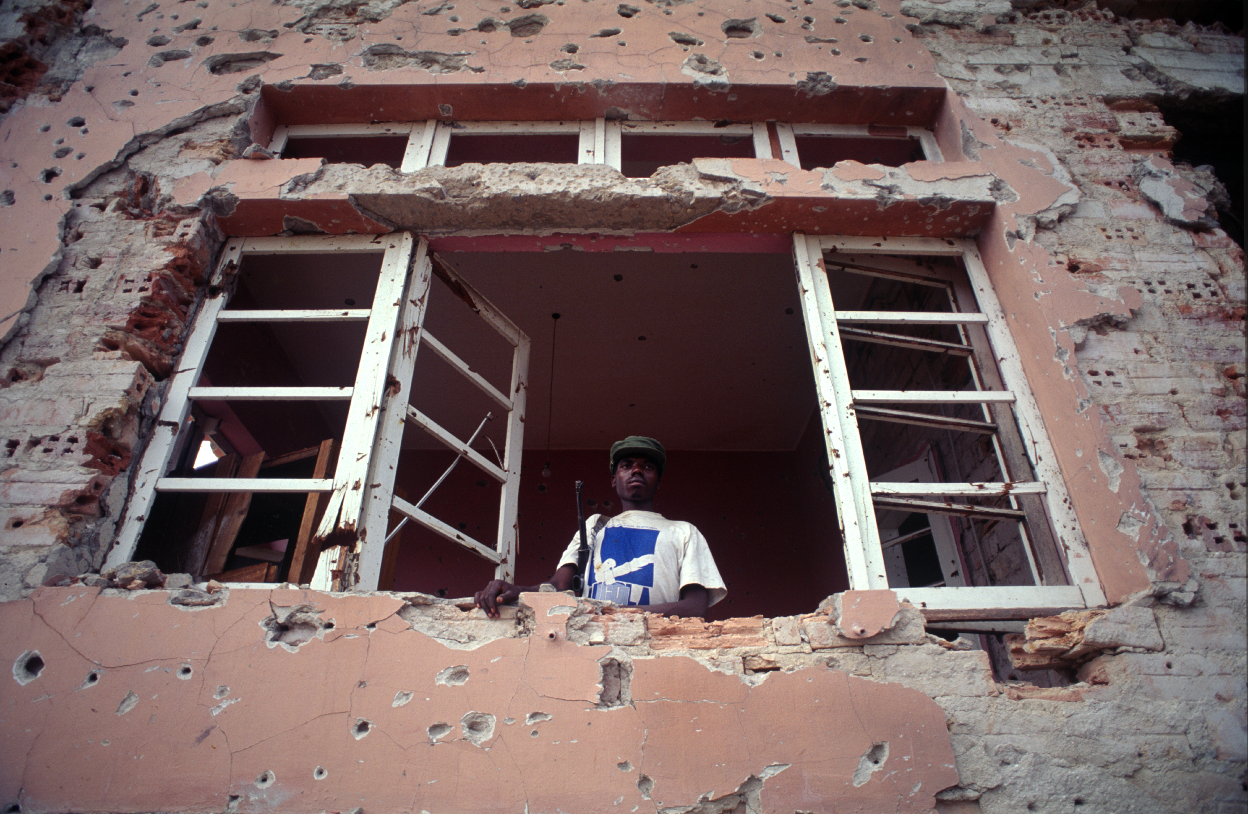 """Ceasefire"" during Angola's destructive civil war. Quito, Angola, 1993"