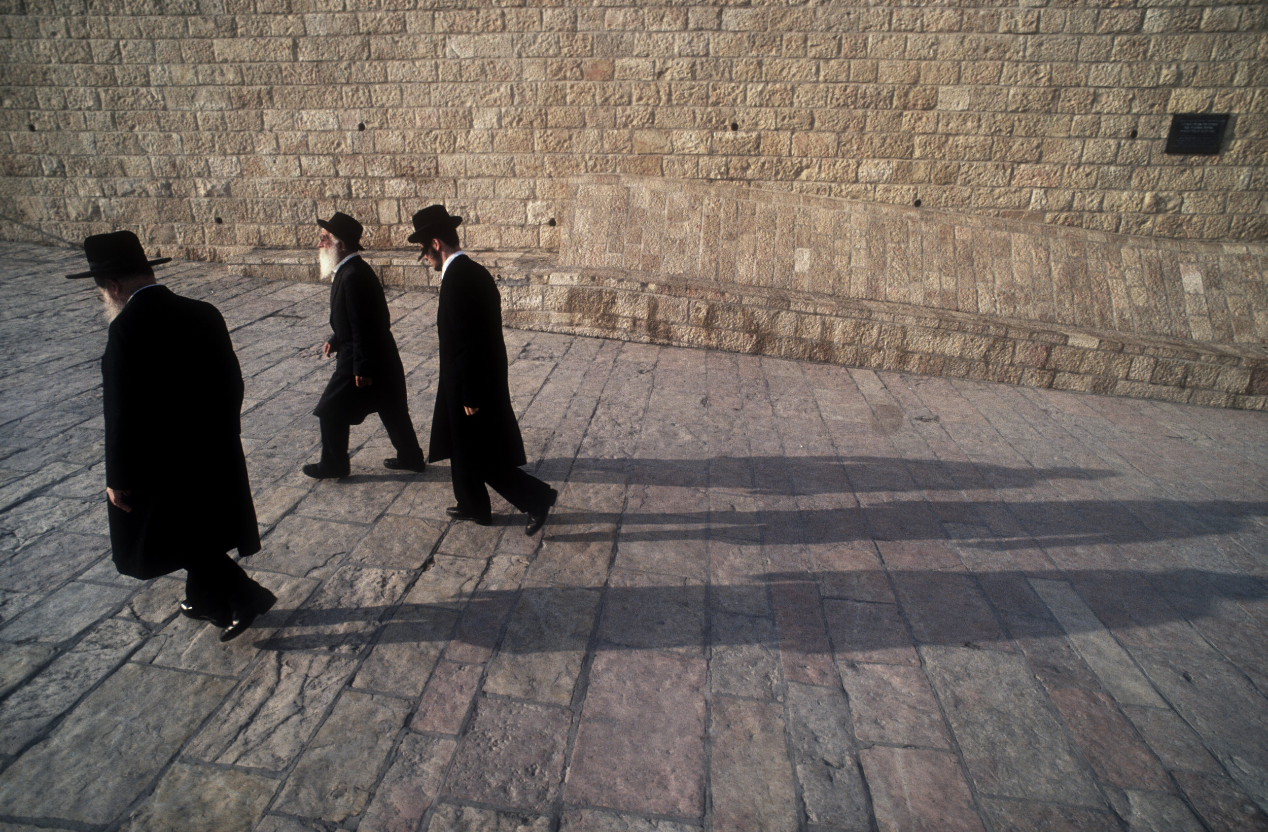 The much contested Western Wall in Jerusalem, Israel. Sometimes known as The Wailing Wall and also known as Kotel. It is remaining segment of a much larger ancient wall erected by Herod The Great that was built as part of an expansion program to encase Temple Mount.