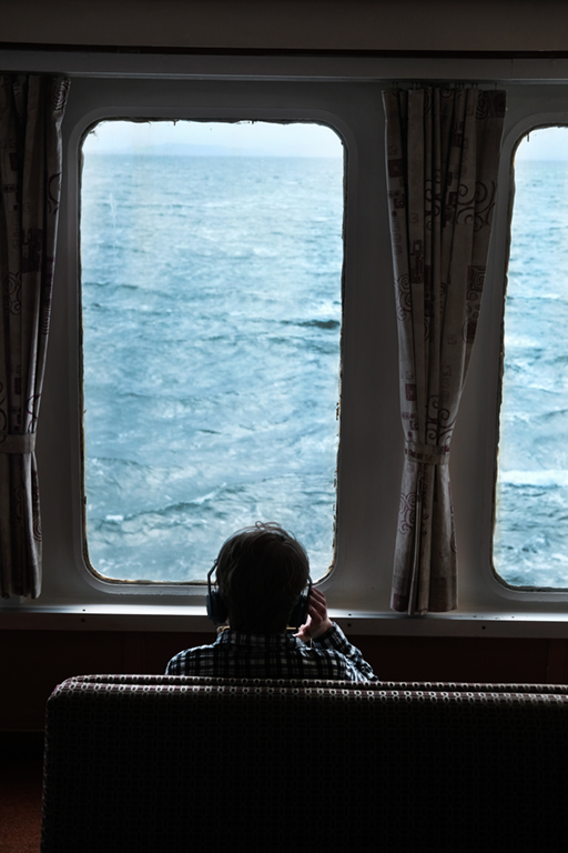 Window # 2 'Sound and Sea.'Ferry to Isle of Mull. West Scotland.