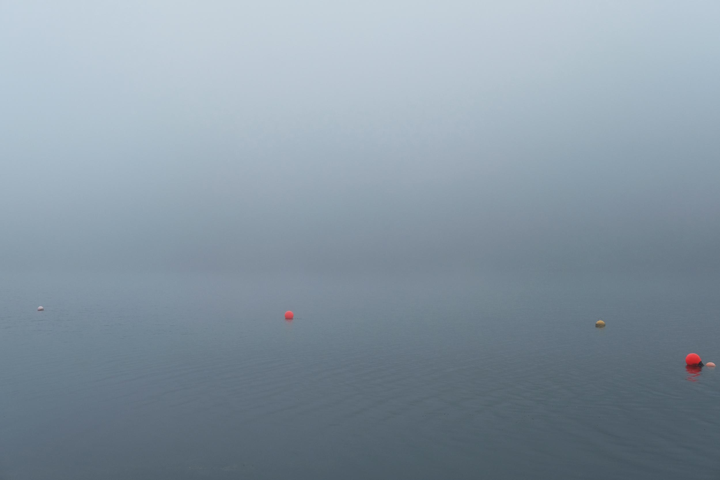 Mooring buoys, Loch Linne Mhuirich, West Scotland.