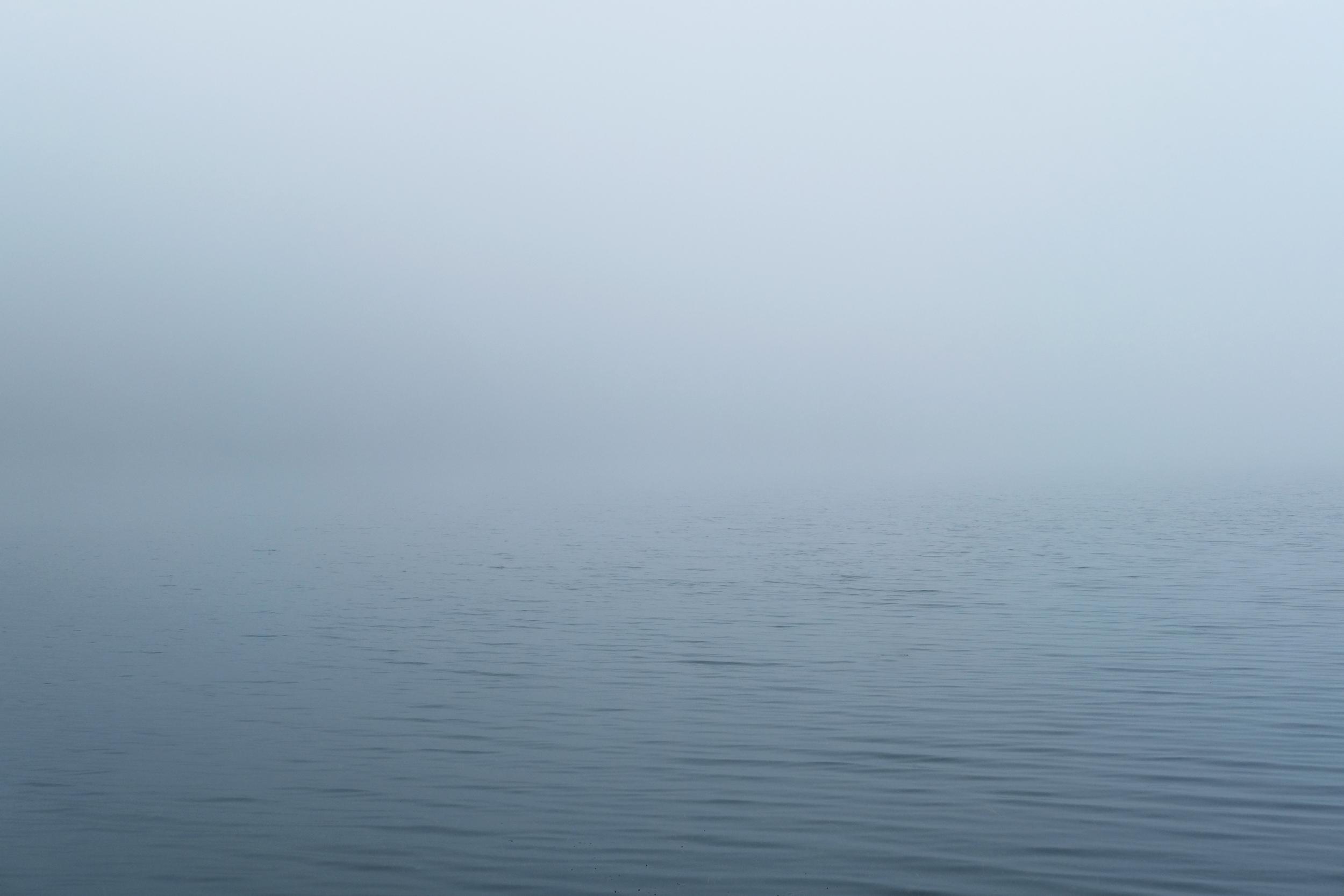 Mist on the water, Loch Linne Mhuirich, Tayvallich, West Scotland.