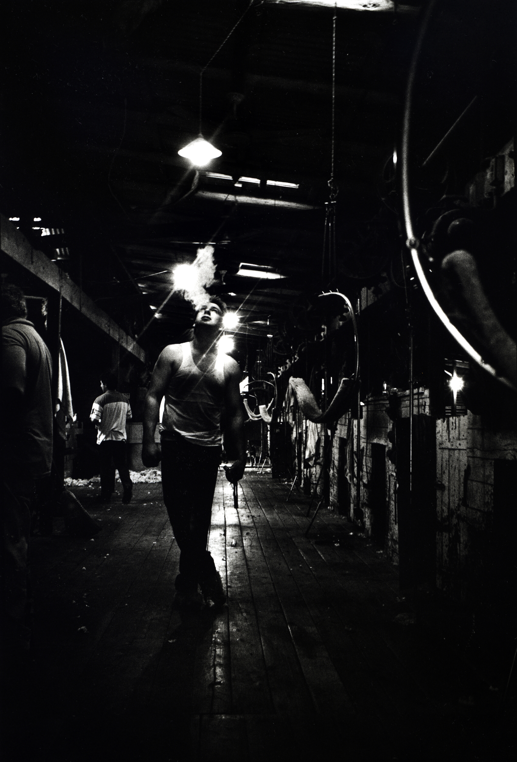 End of the working day. Sheep station, outback NSW, Australia. 1996