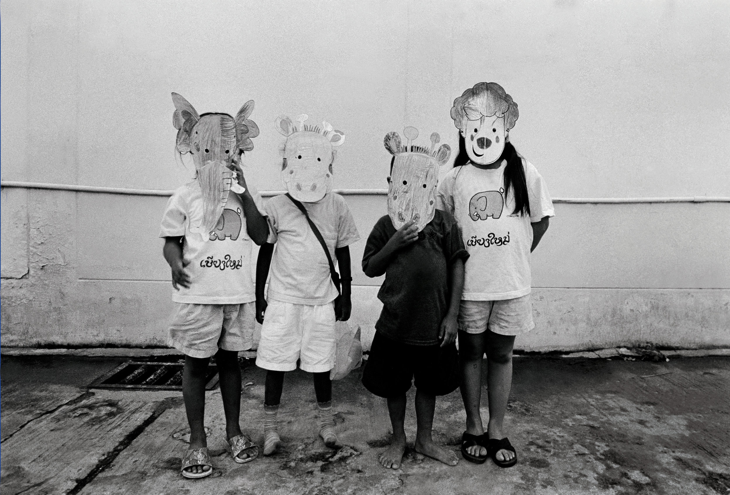 """""""Party."""" Children at an orphanage for those with HIV. Chiang Mai, Thailand. The mid-1990s."""