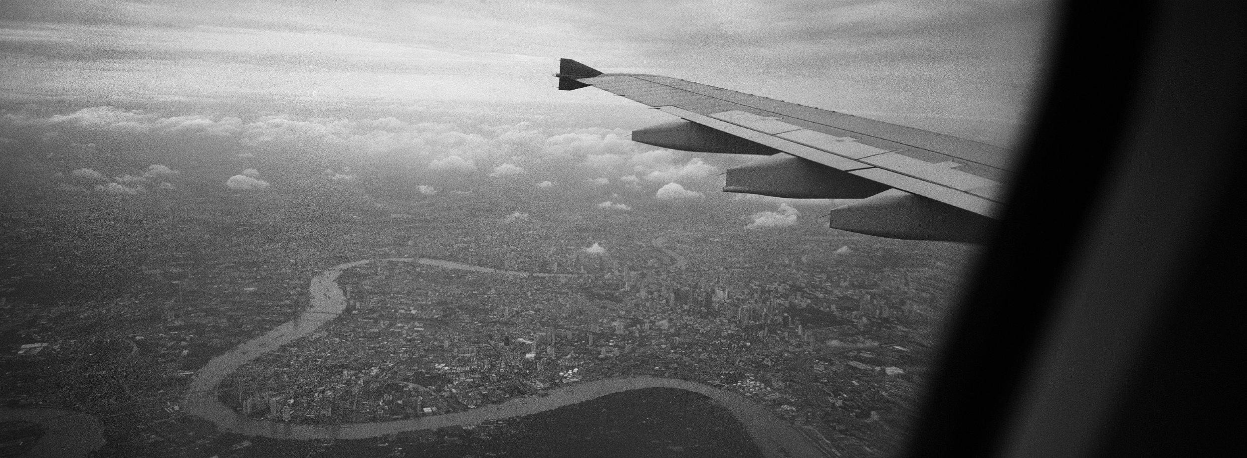 Arriving in Bangkok, Thailand. 2011