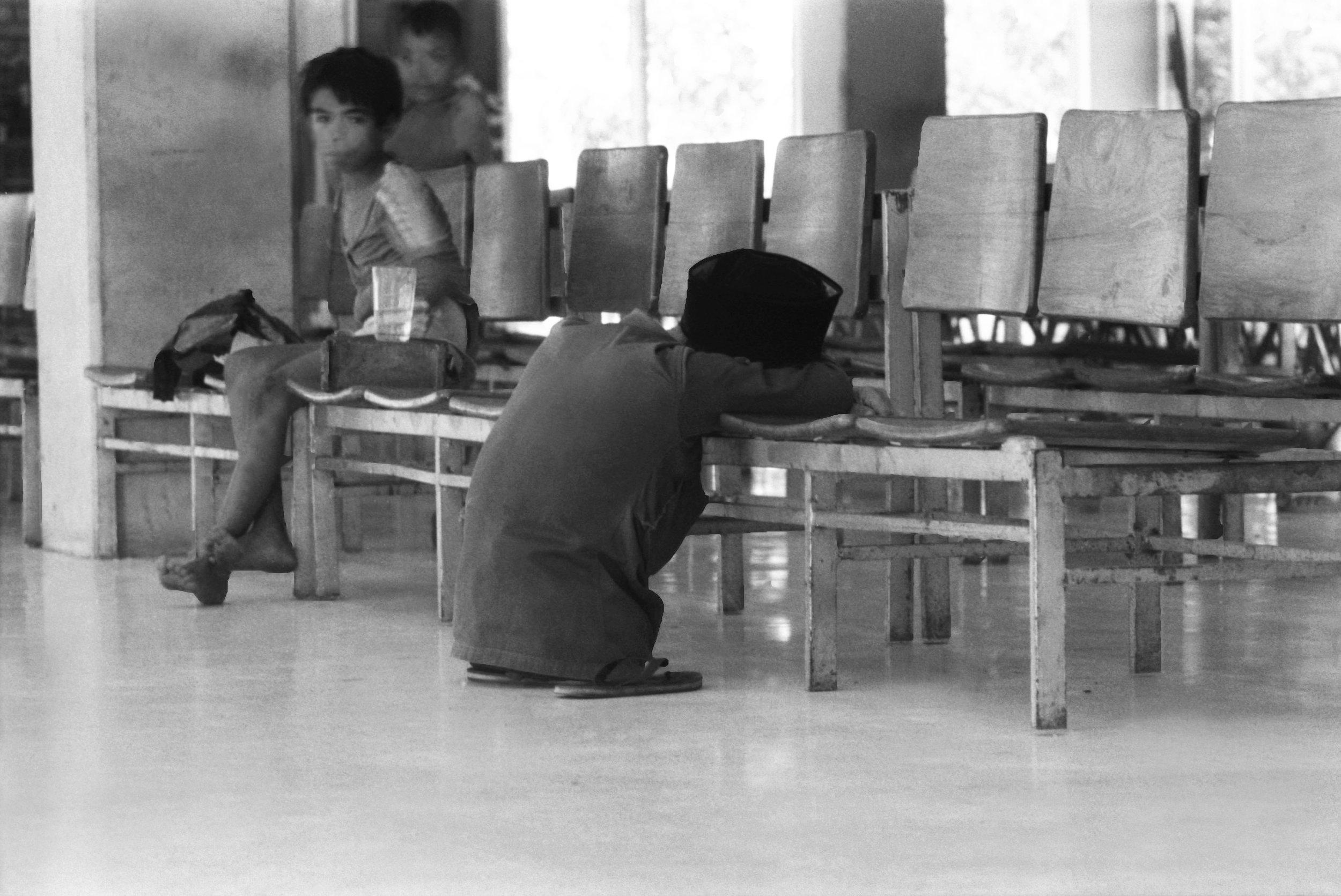 Ferry station. Sumatra, Indonesia. 1984