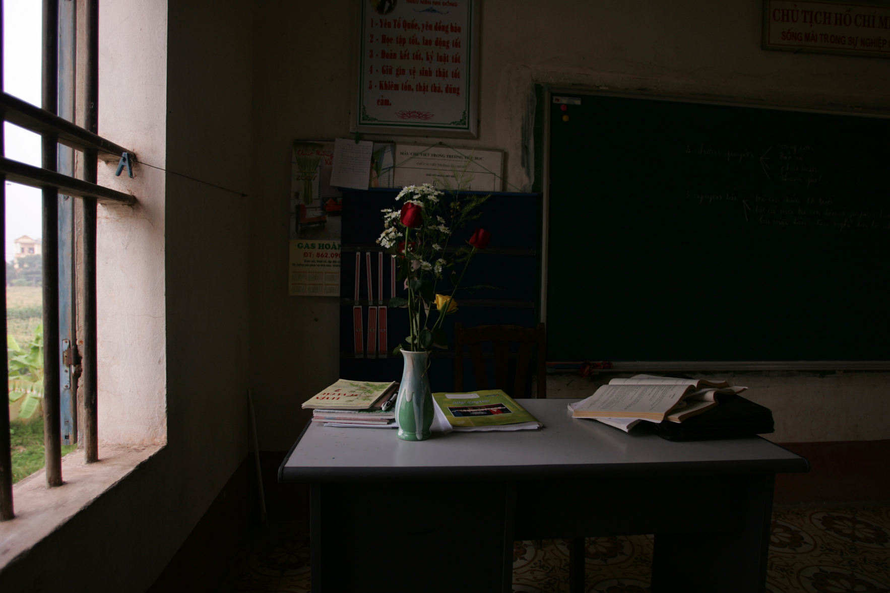 Teachers desk. Vietnam, 2007