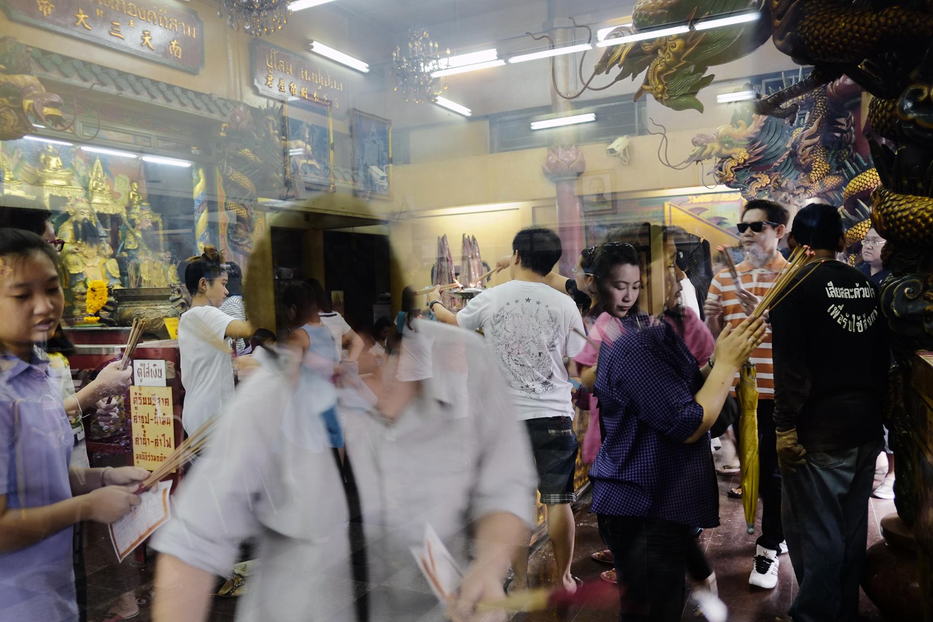 Chinese Buddhist temple. Bangkok, Thailand. 2012