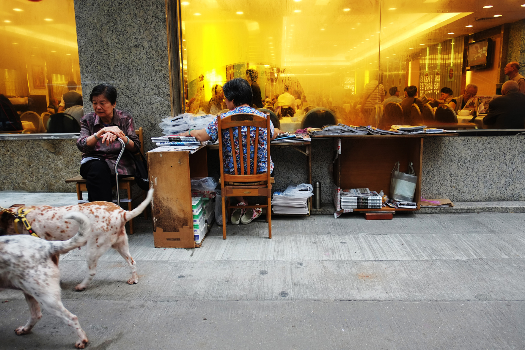 Paper sellers. Hong Kong. 2012