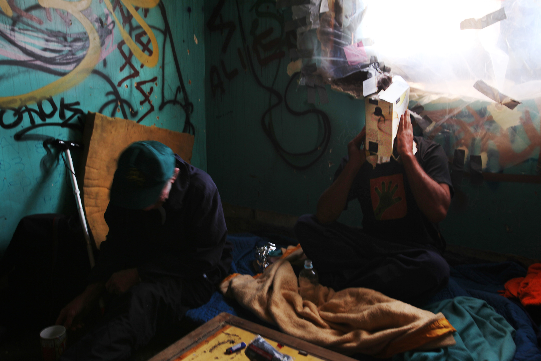 Summary: These pictures are a reportage of the daily struggle of life of alcoholic and homeless people who live in Newcastle, Australia. The lives of alcoholics in Newcastle, show patterns of structured behavior with territorial and social layers. They have a distinctive group identity and a moral order is present. Their subculture is complex with strains of non-patriarchal and patriarchal relations combined with little tolerance towards outside groups. The moral code of the alcoholics subculture may be a reaction to their histories of abuse but is also conservative in reproducing aspects of the culture that they resist. The social networks and in some cases the deep seated friendships made on the street provide a force of survival.
