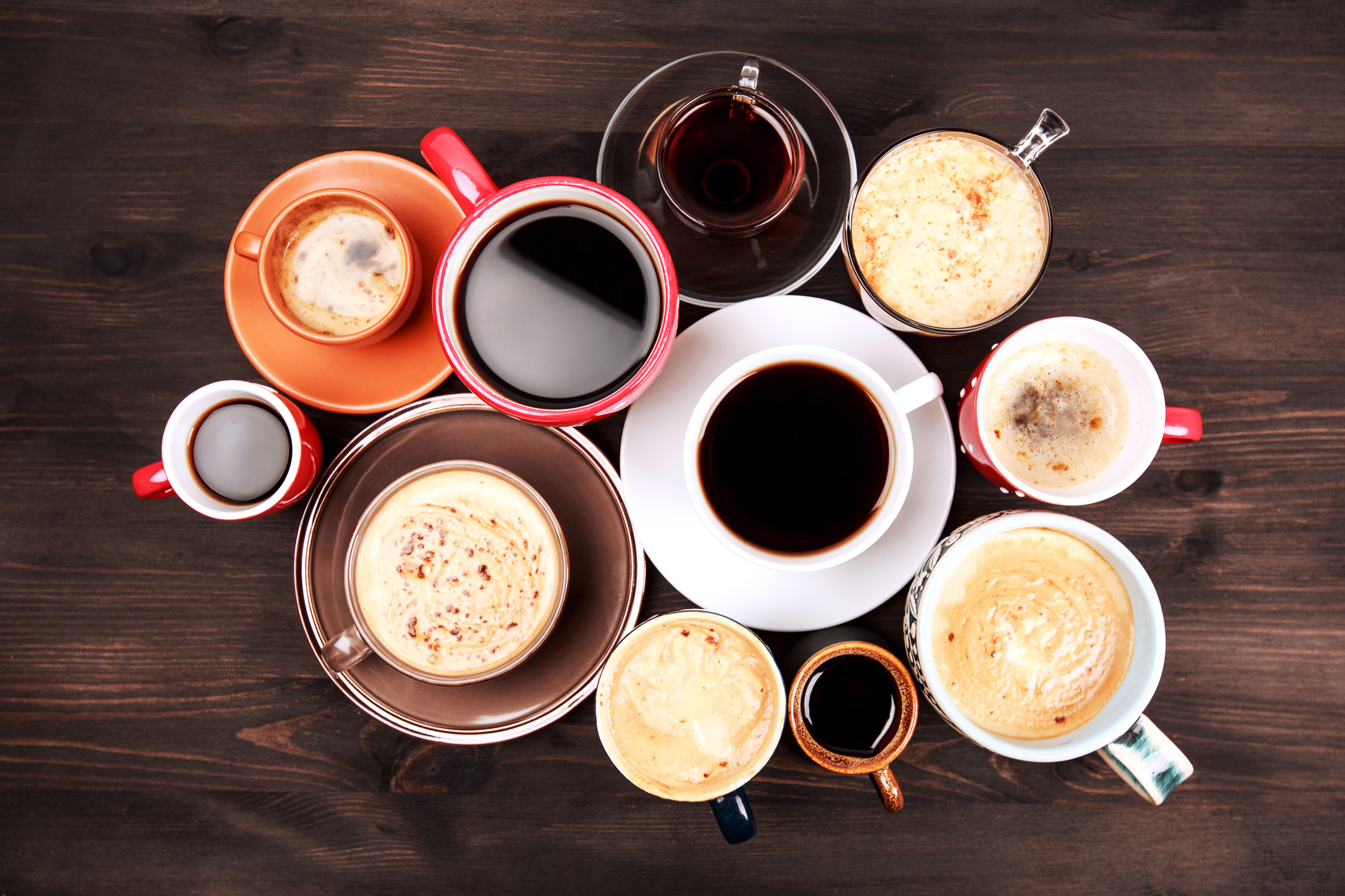 Coffee. All sizes. All kinds.