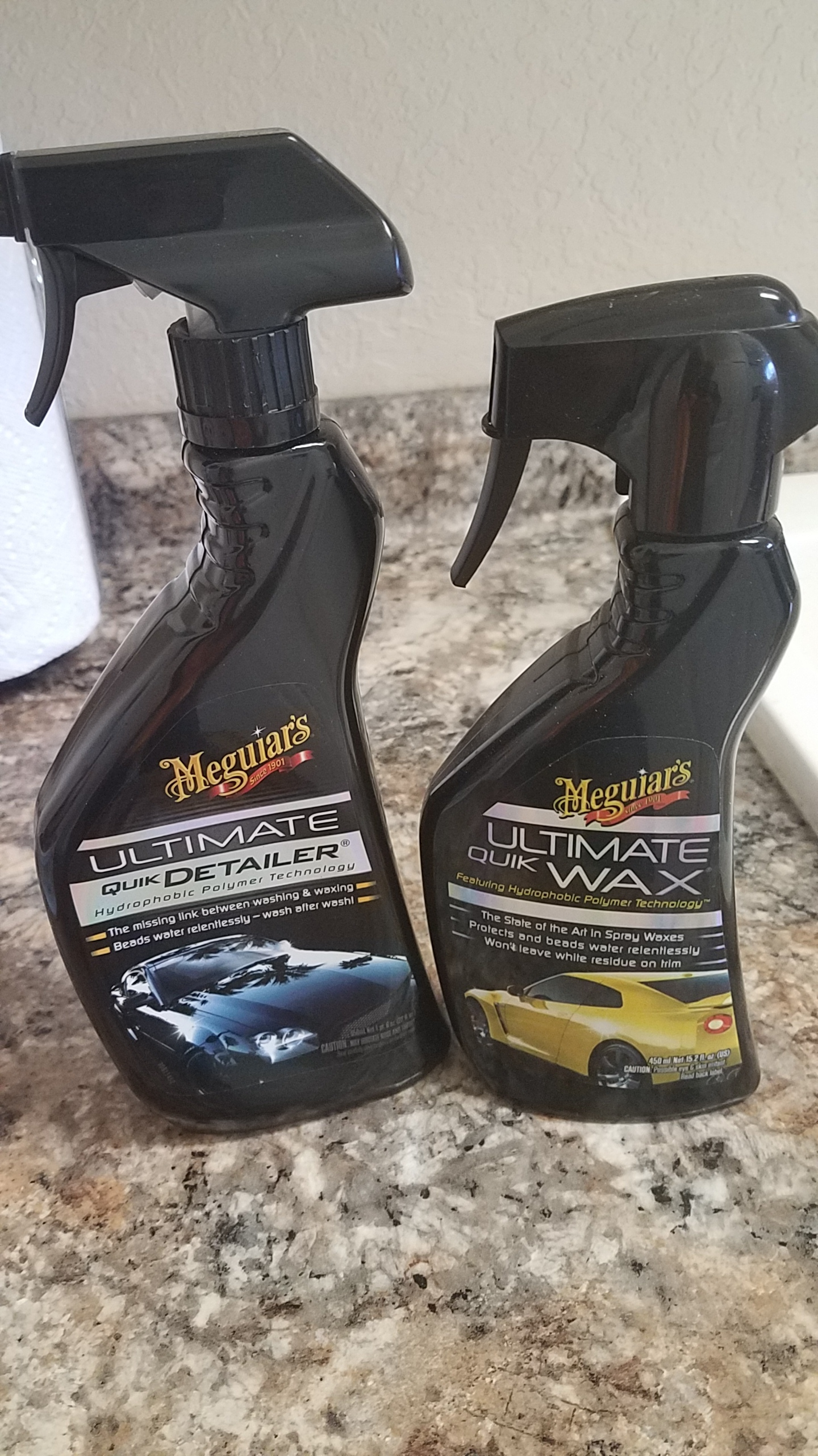 Meguiars Ultimate Detailer (Left)