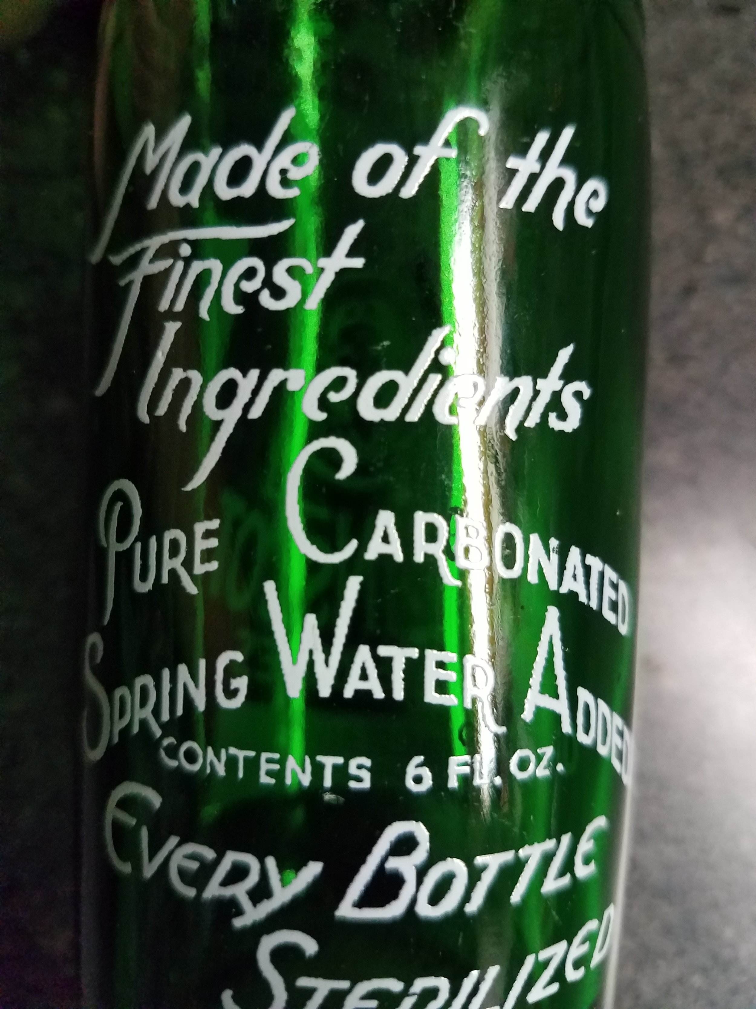 """Pure Carbonated Spring Water Added"""