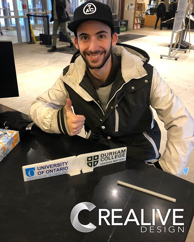 #nowThatsCreaLive! Brian made some sweet 3D gifts for our friends at DC & UOIT . . . . . #dc #uoit #school #education #gift #3d #3drendering #3dprinting #community #logo #crealivedesign #library #smallbusinessweek #smallbusiness #entrepreneurship #entrepreneurs #photooftheday #love #ceo
