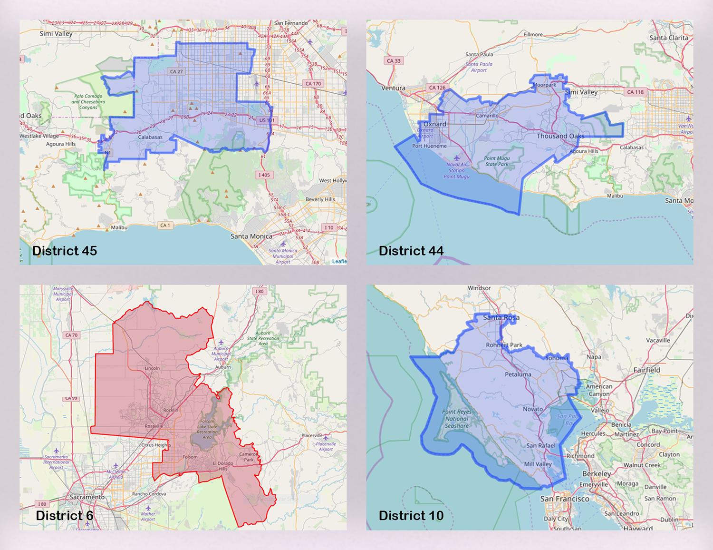 District 45 - Jesse Gabriel - (916) 319-2045 District 44 - Jacqui Irwin - (916) 319-2044 District 10 - Marc Levine - (916) 319-2010 (The district 6 rep is already voting no)