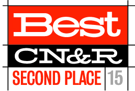 We also received a second place honor in 2015. -
