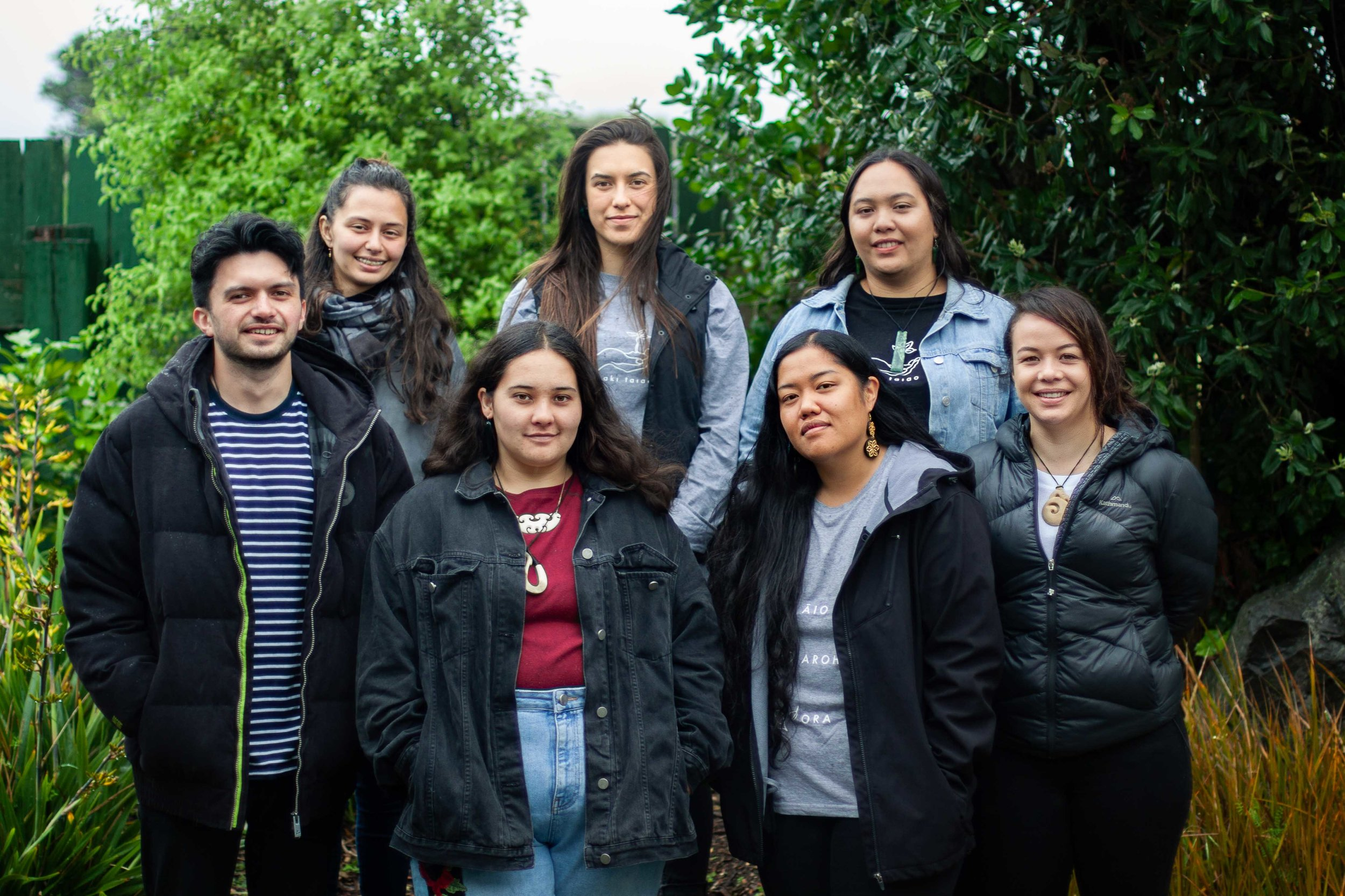 L — R: Kaeden Watts, India Logan-Riley, Nakia Randle, Nevada Huaki-Foote, Annie Te One, Hana Teipo, Kahu Kutia