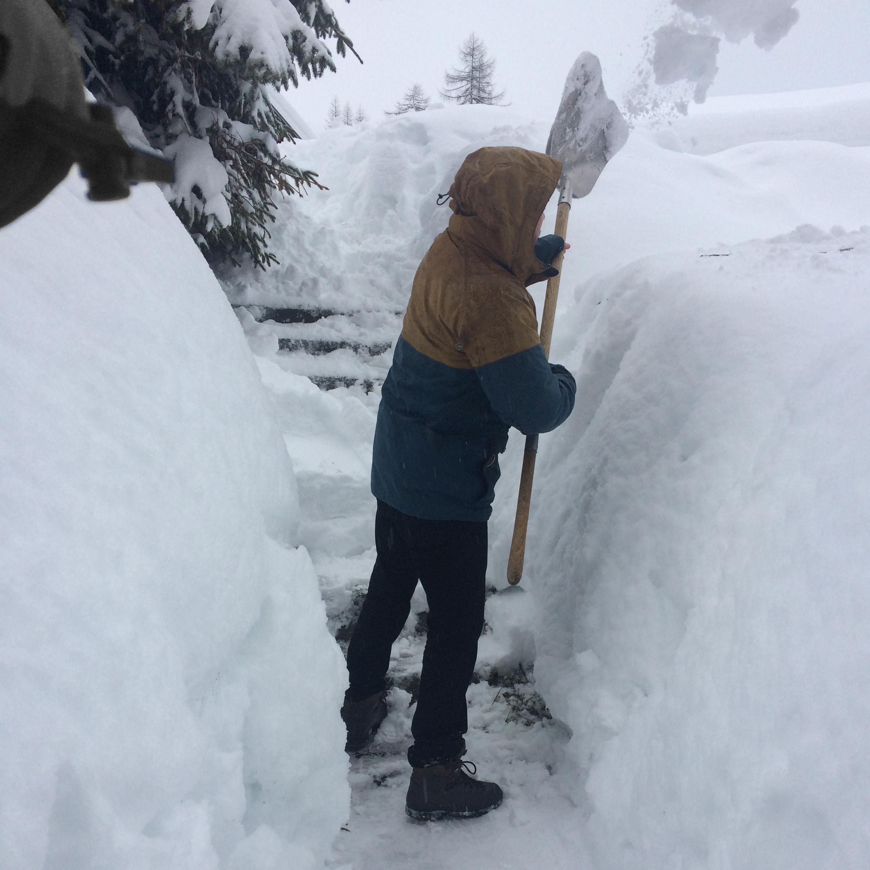 Deep snow in Tignes