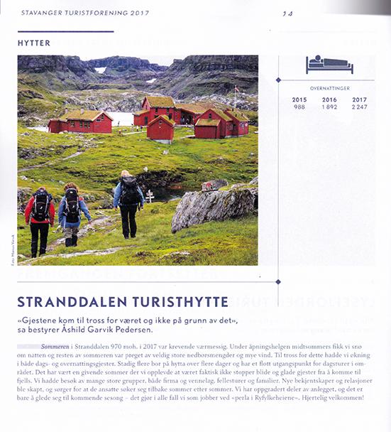 Stavanger Turistforening årsrapport 2017