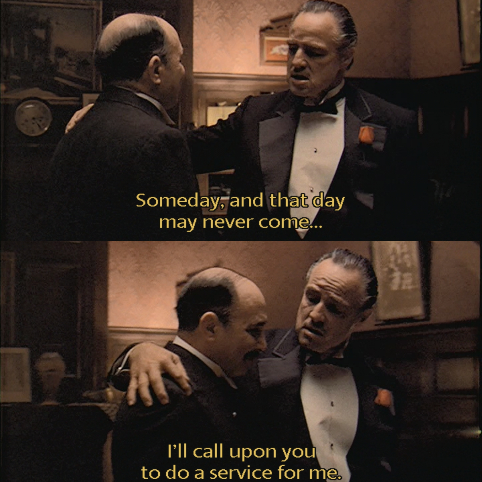Minute 7: The Godfather-Favors - In Minute 7, Amanda and Stephen discuss the intricacies of the Don's barter system and how they apply the same idea in their own circle of friends. They also take some time to smell the roses and appreciate the performances in this minute, just like the Don.
