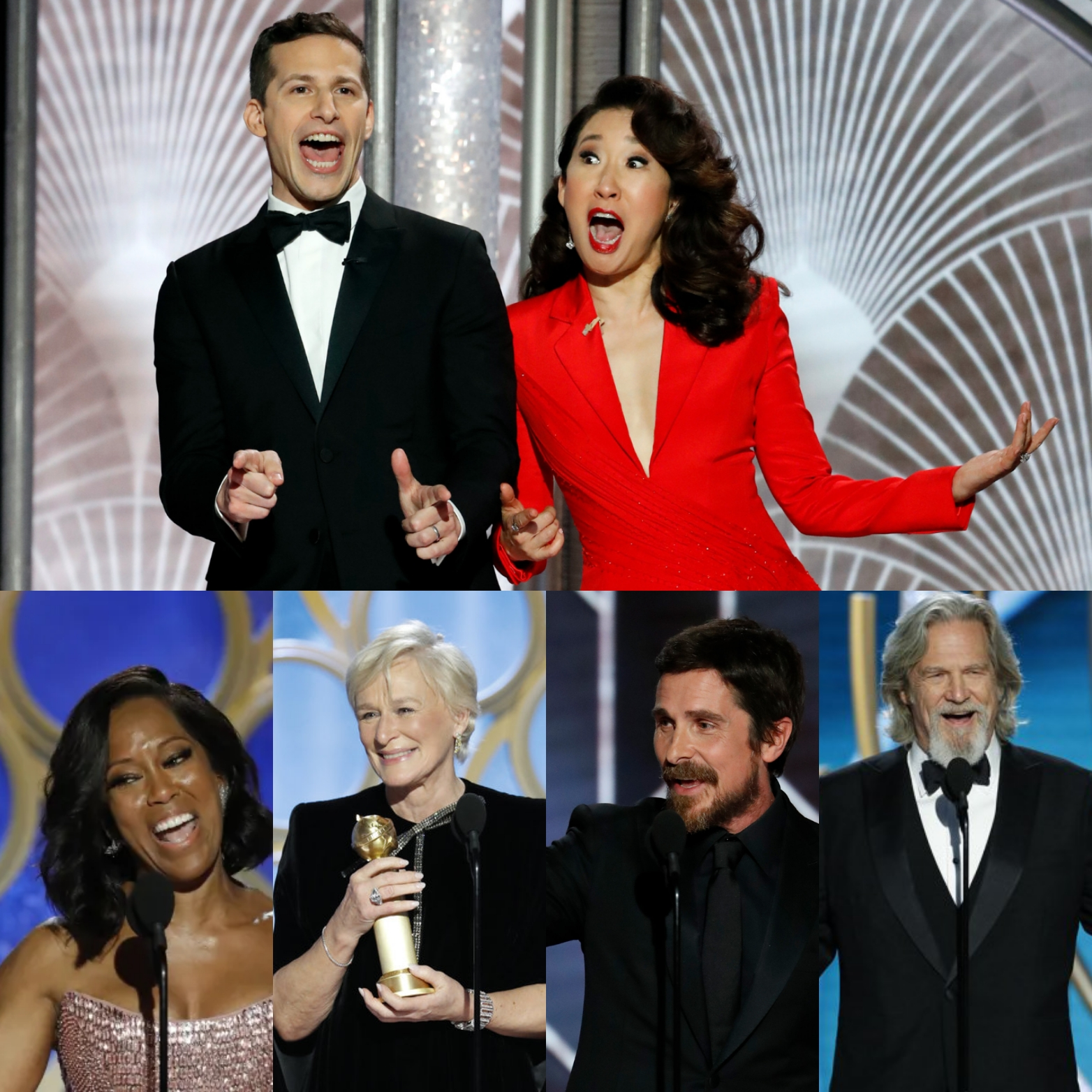 """Golden Globes 2019 - Amanda is joined by Brenda and Sean, for the second year in a row, to discuss the Golden Globe Awards. Brenda drinks """"coffee"""", Sean is shocked to learn Glenn Close doesn't have an Oscar and Amanda wants a gif of Brian May rubbing Rami Malek's shoulders."""