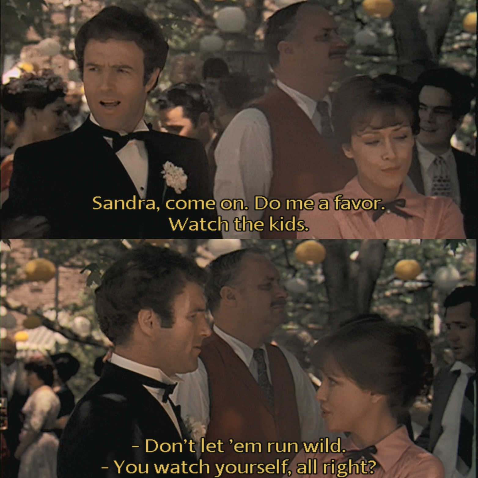 Minute 10: The Godfather-Wedding Snapshots - Amanda and Stephen experience more wedding snapshots in Minute 10. There's dancing, sandwiches and one very annoyed wife.